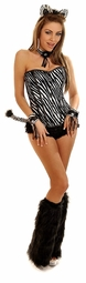 Corset Zebra Costume with Leg Warmers