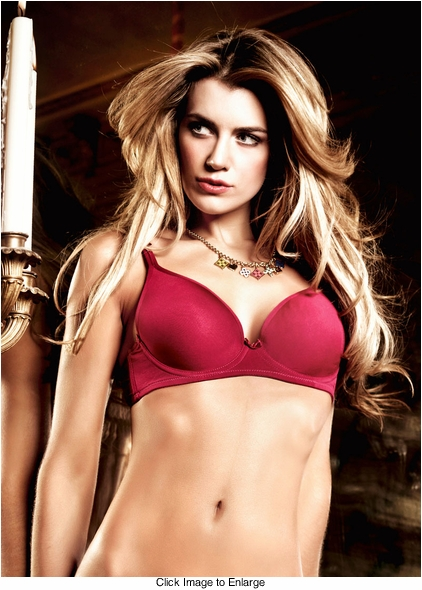 Bordeaux Red Microfiber Maximum Cleavage Bra With Underwire