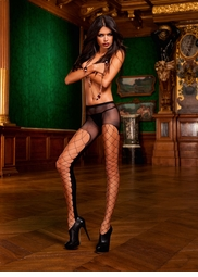 Mesh Net Pantyhose with Large Net Front