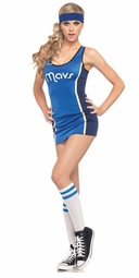 3 Piece  Sexy Costume Mavericks NBA Jersey Top and Skirt