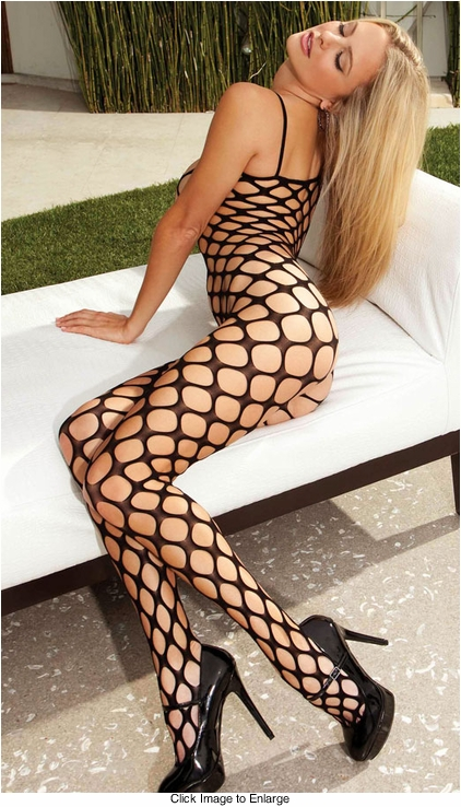 Seamless Large Net Bodystocking