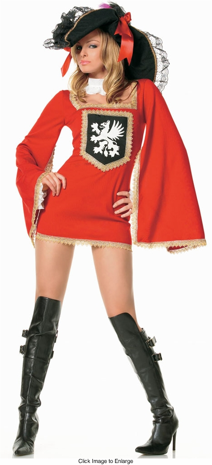 Red Pirate Costume with Coat of Arms