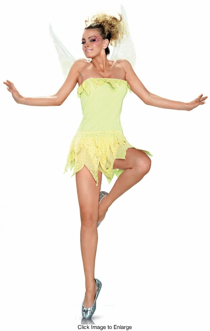 Tinkerbell Green Pixie Costume from Leg Avenue