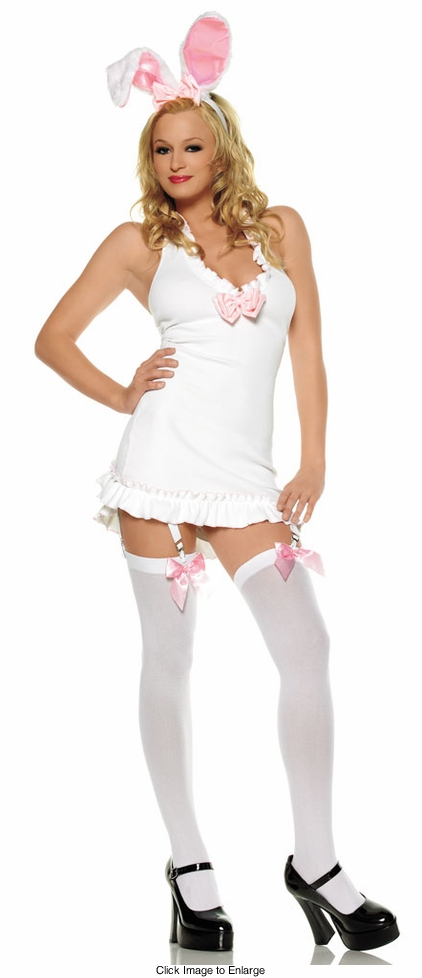 White Bunny Mini Dress Costume