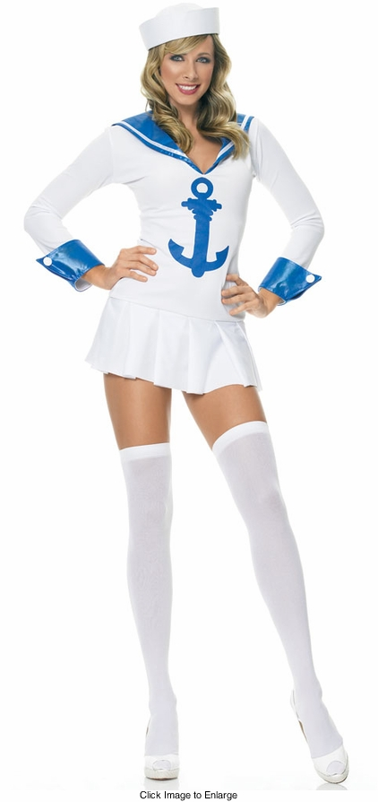 Sailor Costume with blue anchor emblem