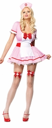 Kandi Stripe Nurse Costume