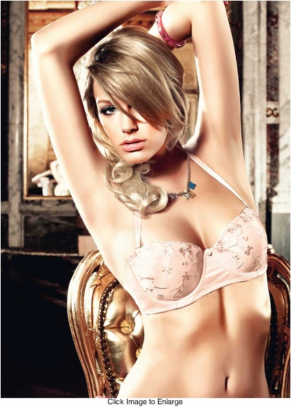 Light Pink Four-Way Embroidered Strapless Convertible Bra