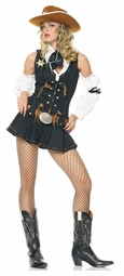 Wild West Sheriff Girl Costume