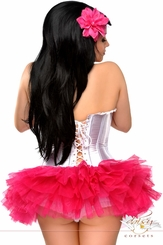 White Strapless Ruffled Corset & Pettiskirt