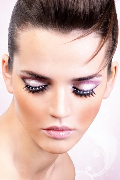 Black and Clear Crystal Lashes