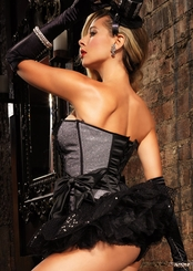 Black and Silver Vivian Corset