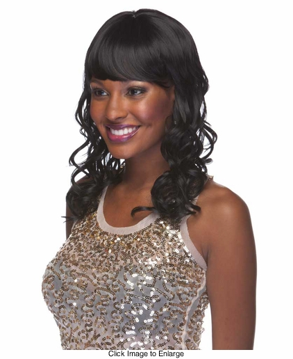 Heat Friendly Synthetic Wig with Glamour Curl Shoulder Length Hair