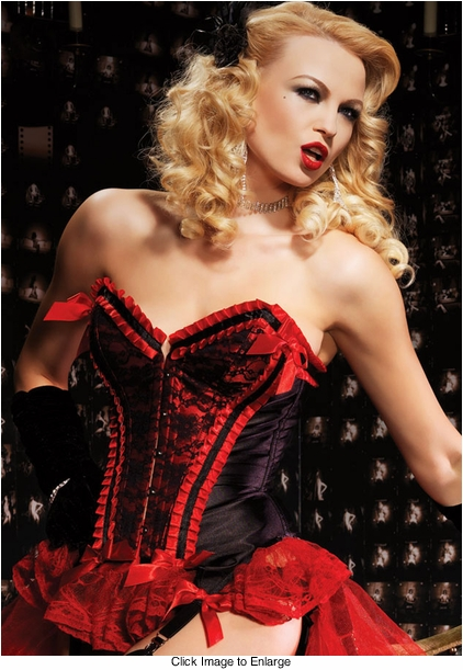 Deluxe Valentina Corset in Red