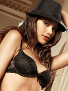 Black Flower Lace Bra With Underwire