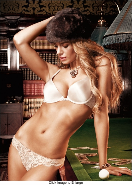 Ivory Microfiber And Lace Bra With Underwire and Racerback