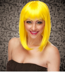 Yellow Tapered Bob Wig Doll