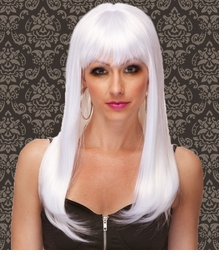 Vixen Long Hair Wig with Full Bangs in Snow White
