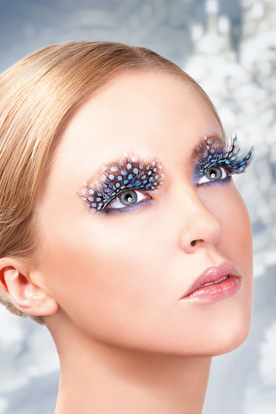 Blue Feather False Lashes