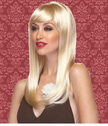 Vixen Long Hair Wig with Full Bangs in Blonde