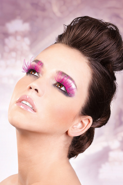 Pink Glam Feather Lashes