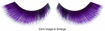 Purple Fake Lashes with Black Corner