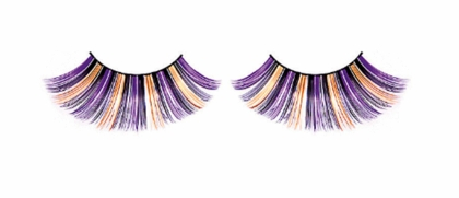 Purple, Black, Yellow and Silver Long Lashes
