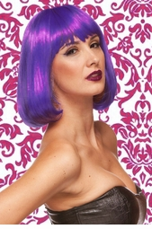 Edgy Page Style Wig in Purple