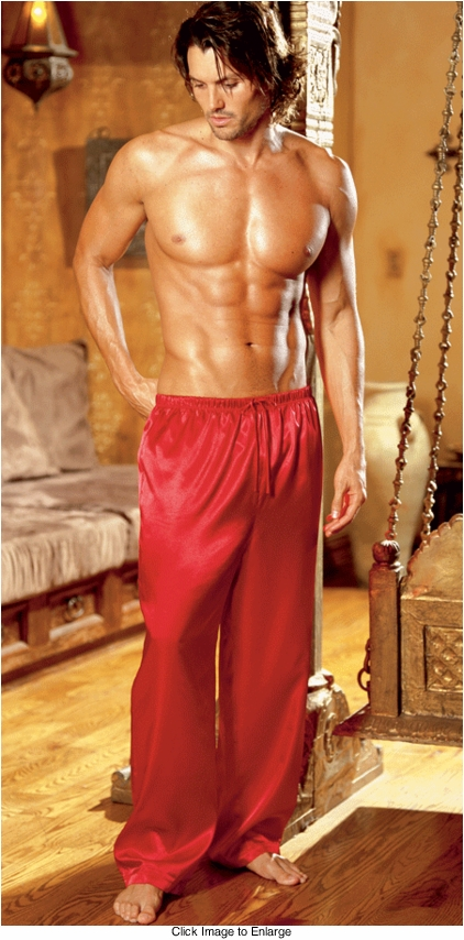 Satin Drawstring Lounge Pants for Men