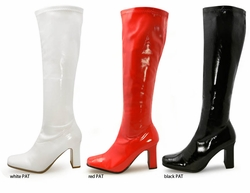"3.5"" Gogo Boots in Stretch Patent Leather"