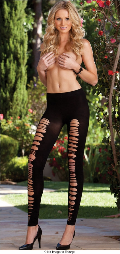 Opaque Leggings with Slash Detail -Can Be Worn in the Front or Back