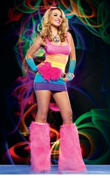 Rainbow Riot Mini Dress