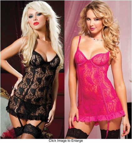 Paisley Lace Mini Dress and Thong