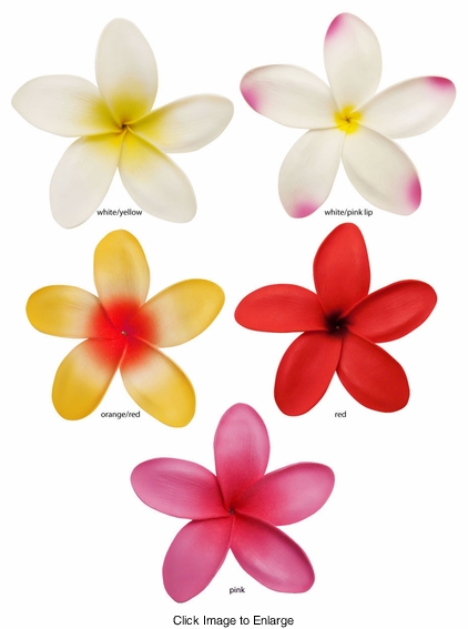 "5"" Hawaiian Flower Hair Clip (available in 5 colors)"