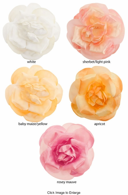 "3.5"" Rose Flower Hair Clip"