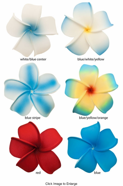 "2.5"" Classic Hawaiian Flower Hair Clip (available in 6 bright colors)"