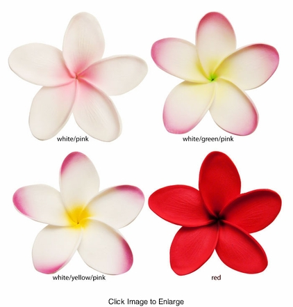 "3"" Hawaiian Flower Hair Clip (available in 4 colors)"