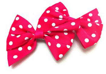 "3"" Polka Dot Bow Hair Clips for $2.99 Each Pair"