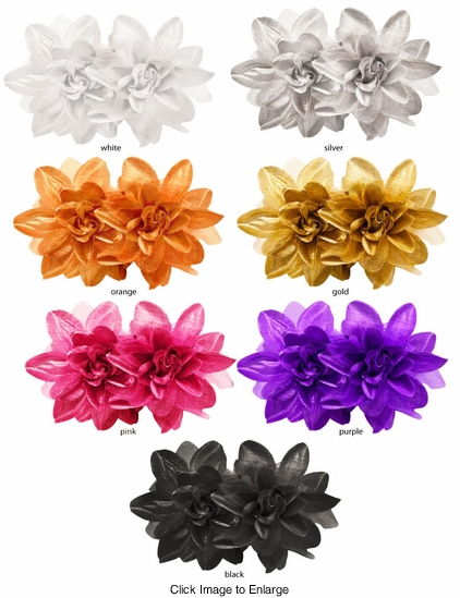 "5"" Double Flower Jaw Hair Clip (available in 7 colors)"