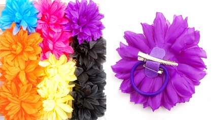 "4.5"" Multi Layer Flower Hair Clip (available in 6 colors)"