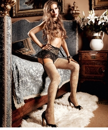 Luxe Champagne Lace Stockings