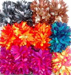 "5.5"" Flower Hair Clip on Elastic Headband (available in 6 colors)"