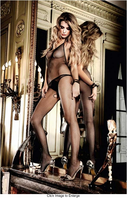 Halter Front Fishnet Bodystocking