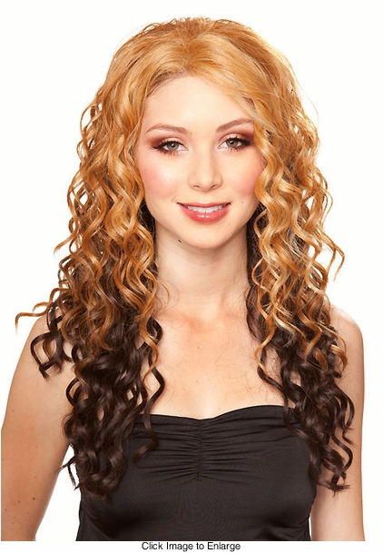 Ombre  Color Auburn and Strawberry Blonde Crown with Brown Tips F2032
