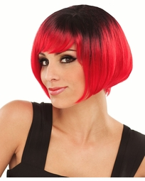 Red and Black Short Bob Wig