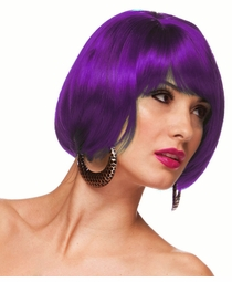 Purple Short Bob Wig