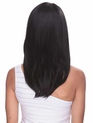 Straight Wig with Side Swept Bangs