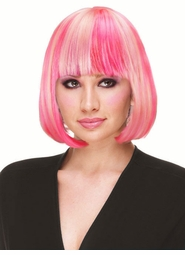 Deluxe Bob Wig in Bubble Gum Pink for $19.99
