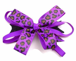 "5"" Leopard Print Ribbon French Hair Clip (available in 7 colors)"