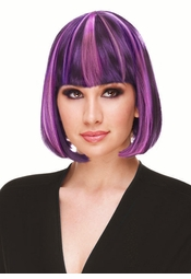 Deluxe Bob Wig in Grape Purple for $19.99