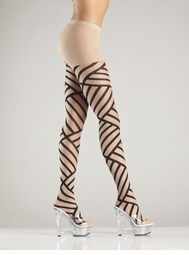 Sheer Basket Weave Pantyhose